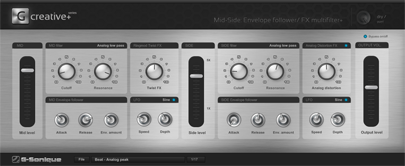 Mid-Side: Envelope follower / FX Multifilter